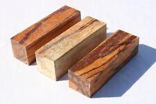 3PCS Marblewood Pen Knife Call Cue Exotic Wood Turning Bank Lumber 1.5 x 1.5 x 6