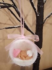 Baby shower,  new born, gift, girl with dummy