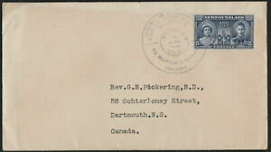 """NEWFOUNDLAND FIRST DAY COVER - JUNE 17, 1939 - Sc #249 """"ROYAL VISIT"""" - ph136"""