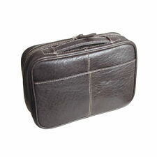 Pierre Cardin Leather Travel Toiletry Bag (Brown)