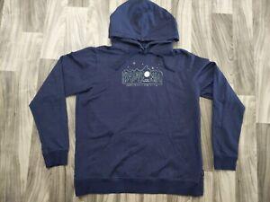 Patagonia Logo Hoodie Pullover Dark Blue Sweatshirt Size XL - Organic Cotton -