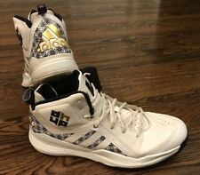 new concept 5974c 960b7 Adidas Dwight Howard 5 Superman Basketball Shoes SZ 12 White