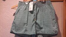 H&M Green White Shorts Size 6 New