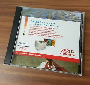 CD Phaser 7700 Xerox Advanced Network Management Tools CD-Rom V1.1 Windows Unix