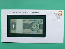 Brazil 1 Real Uncirculated Franklin Mint Banknote Cover SNo46106