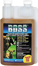 Boss Pour-On Insecticide Cattle Sheep Goats 32oz.
