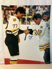 Normand Leveille Boston Bruins Signed 16 X 20 Photo Photograph With Ray Bourque