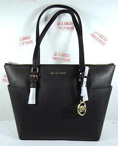 Michael Kors Charlotte East West Large TZ MK Signature Leather Shoulder Tote Bag