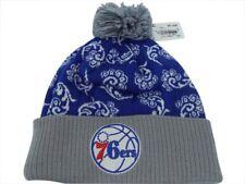 Philadelphia 76ers NBA Adidas Cuffed  Pom Swril Hat Cap Toque Beanie Knit OSFA
