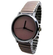 MONTRE FEMME STRASS EXTENSIBLE UNI TAUPE BEIGE BRUN CLAIR MODE ERNEST BCBG GIRLY