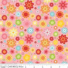 Riley Blake Hello Sunshine Novelty Pink Flowers Girl Children Fabric Fat Quarter