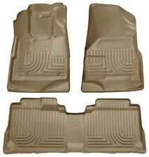 2009-2012 Ford Escape Husky Tan WeatherBeater Front & 2nd Row Floor Liners