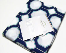 Pottery Barn Multi Colors Cotton Blue Gray Nova Geo Shape Full Queen Duvet Cover