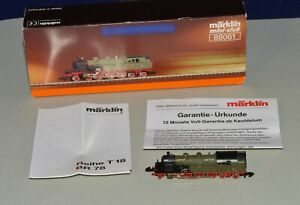 Z Scale Marklin mini-club 88061 T18 BR 78 1140 4-6-4 Steam Loco w 5 Pole & LEDs