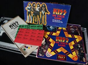 1978 KISS On Tour board game - Complete & Unused - Vintage Aucoin