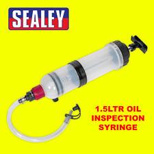 Sealey VS405 Vehicle Car Oil Fluid Inspection Suction Transfer Syringe 1.5ltr