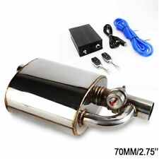 """Exhaust Muffler Resonator 2.75"""" Inlet Outlet Pipe + Cutout Valve Remote Control"""