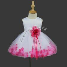 Formal Flower Girl Kid Christening Wedding Party Bridesmaid Princess Tulle Dress