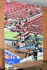 JUSTIN BARCIA #1 SIGNED 12x18 ACTION PHOTO- COA - SUPERCROSS #4