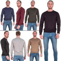 Mens Brave Soul Long Sleeve Crew Neck Sweater Jumpers  Plain Top Sweatshirt New