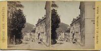 Pyrenees Rue Dei Acque-Buono Francia Foto J.Andrieu Stereo Vintage Albumina