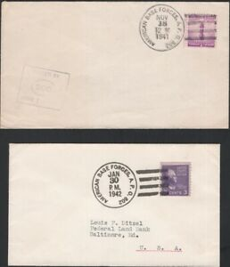 U.S., 1941-42. Covers APO 802, Fort Bell, St. Georges, Bermuda