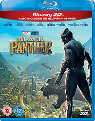 Black Panther 3D & 2D Blu-ray, Brand New & sealed Marvel