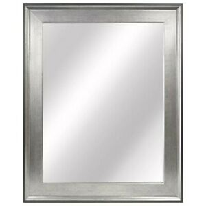 Home 23-inch W x 29-inch L Framed Fog Free Wall Mirror in Two-Tone Pewter
