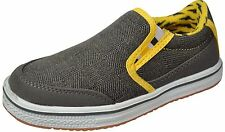 New Boys Slipon Canvas Shoes Grey/Yellow Size 10