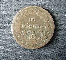 Munt Frankrijk/France: : 10 (UN DECIME) Centimes L'AN 8 BB