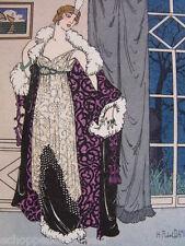 H. Robert Dammy  Le Soir Tombe...   Gazette Bon Ton 1912 pl. 4 robe de Doucet