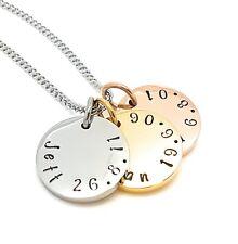 Personalised stamped jewellry, personalised engraved jewellery Tripple Disk Name