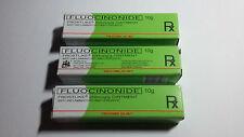3 TUBES (3x10g) Fluocinonide Cream: Skin Ointment Dermatitis, Psoriasis, Eczema