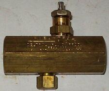 "Deltrol Pneu-trol 1/4"" Brass  Flow Control Valve FM20B"