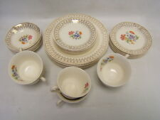 """Heritage Ware """"Premier Scroll"""" Stetson Five 6 Piece Place Settings USA GUC"""
