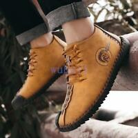 Men's Chic Solid Oxford Leather Shoes Wool Fur inside Lace Up Flats Shoes Vogue
