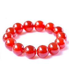 Natural Agate Natural Stone Red Agate Birthstone Beads Women Bracelet T91