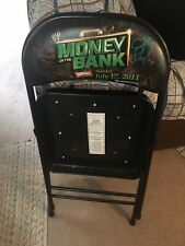 WWE PPV Chair Money In The Bank 2011 Allstate Arena CM Punk Signed