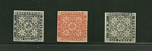 New Brunswick 1-3,official reprints on thin paper,1897, XF-Scarce!