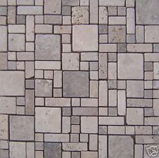TUSCANY TRAVERTINE CRAZY PATTERN  MOSAIC   MARBLE TILE