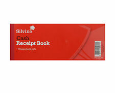 SILVINE CHEQUEBOOK STYLE RECEIPT BOOK. 40 PAGE WITH CONTERFOIL STUBB