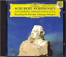 Giuseppe SINOPOLI: SCHUBERT Symphony No.8 Unfinished 9 CD Staatskapelle Dresden