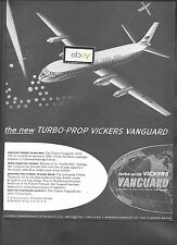 BEA BRITISH EUROPEAN AIRWAYS VICKERS VANGUARD PROP-JET 1956 AD