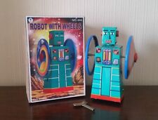 Robot with wheels Tin Plate [Schylling MS444] - Good Condition*