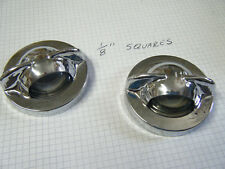 Lot of 2 License plate Light Lens 73 Ford Station Wagon Bumper Crome Metal