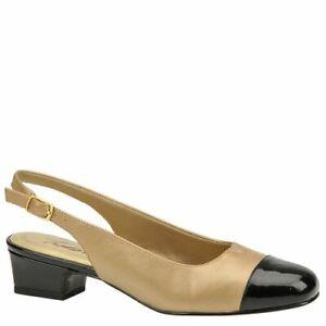 Details about  /Trotters Womens Dea Leather Toe Cap Dress Slingback Heels Shoes BHFO 9515