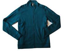Ibex Merino Wool Full Zip Sweater Jacket Turquoise Womens Large