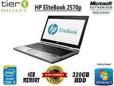 HP EliteBook 2570p Core i5 3360M 2.60GHz, 4GB RAM 320GB HDD Windows 7 Pro Laptop
