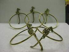 2 pcs Seahorse Towel Ring Brass including screws