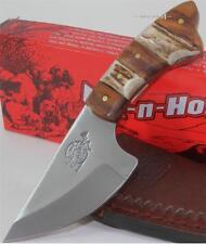 Fox-N-Hound Stag Bone Hardwood Full Tang Skinner Skinning Hunting Knife w/Sheath